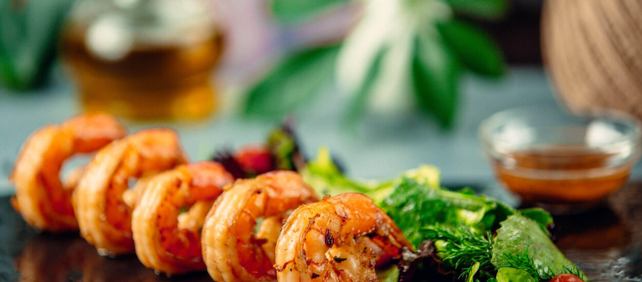 Another taste of shrimp with the best recipe for Grilled Spicy shrimp