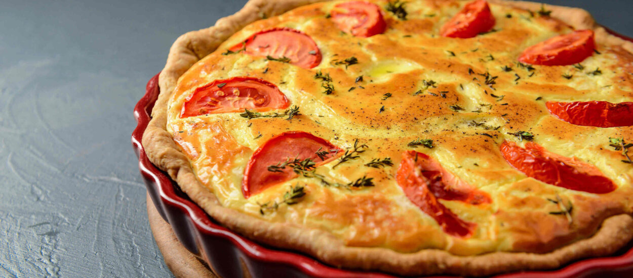The easiest recipe Quiche Lorraine, a popular French dish
