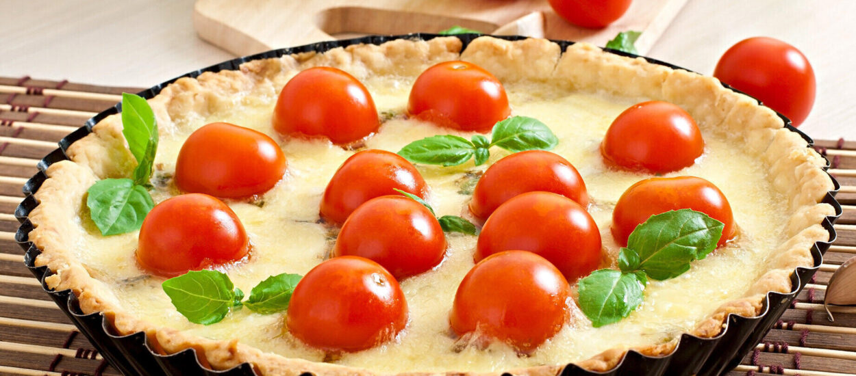 Recipe for making the most delicious mustard and tomato tart with the most delicious method