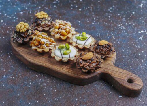 Recipe for making walnut tart, children's favorite tart