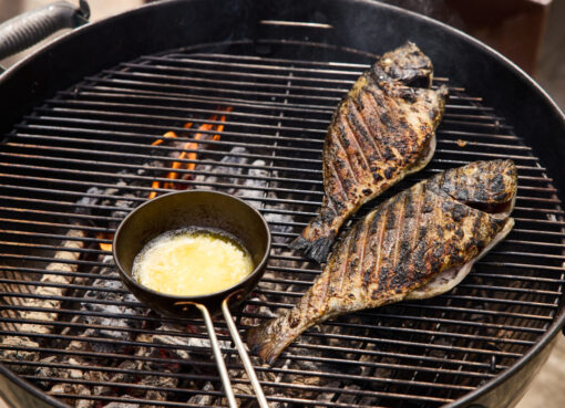 How to cook Joachim Hayward's grilled sea bream with crispy shallots from Crosley