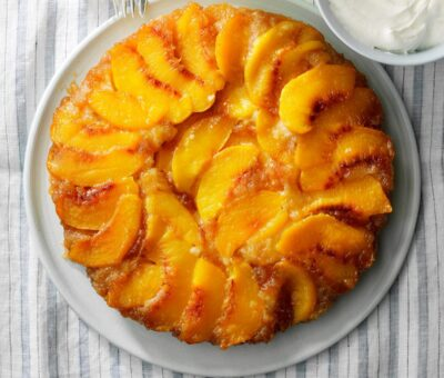Peach Upside-Down cheesecake recipe