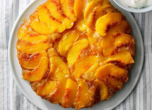 The best upside down peach cheesecake recipe