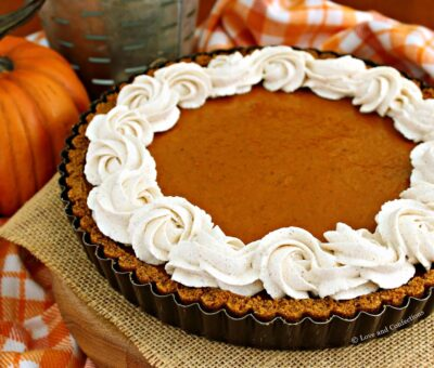 Pumpkin Chocolate Tart with Cinnamon Whipped Cream