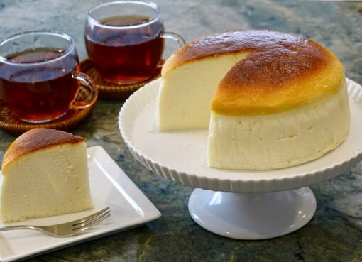 What is the ingredient of Japanese cheesecake?