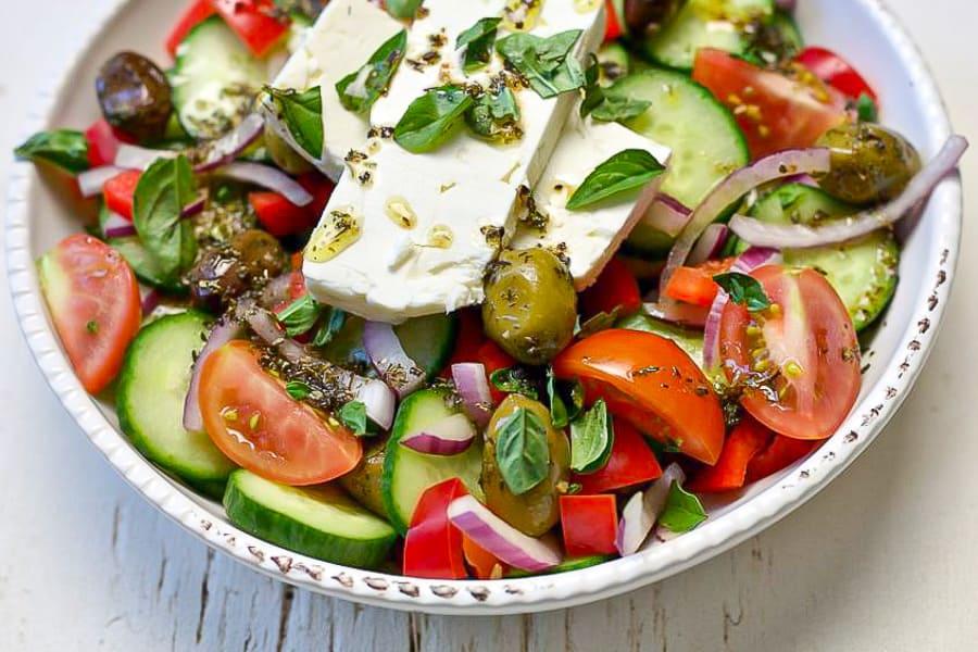Three Mediterranean salads recipe